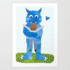 Monster hug. Art Print