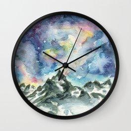 Matterhorn Mountain Wall Clock