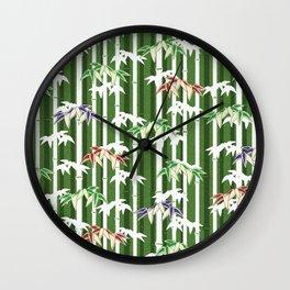 Vintage oriental Bamboo pattern Wall Clock