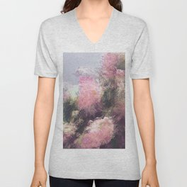 Wild Roses in Motion - Glitch Unisex V-Neck