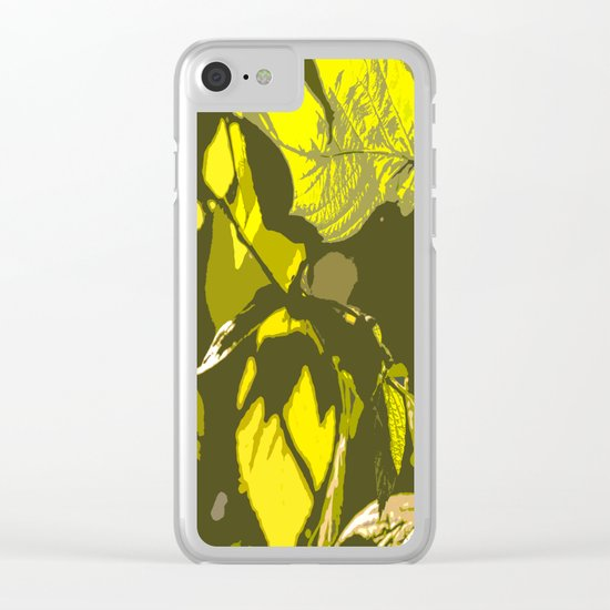 Autumn leaves bathing in sunlight Clear iPhone Case