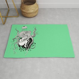 Octopus and jellyfish dreams Rug