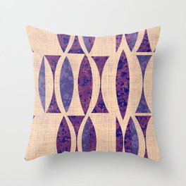Seventies violet Pattern Throw Pillow