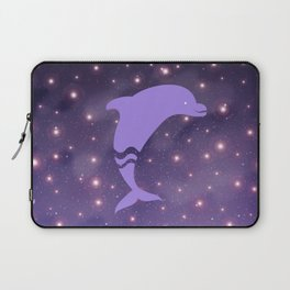 Dolphin in Universe _E04 Laptop Sleeve