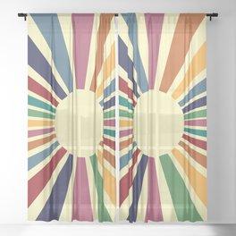 Sun Retro Art II Sheer Curtain