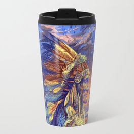 native american colorful portrait Travel Mug