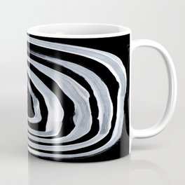 Rings Dark Gothic Black And White Minimalist Ghostly Abstract Art Coffee Mug
