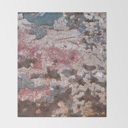 Cracking Paint and Rust Abstract Throw Blanket