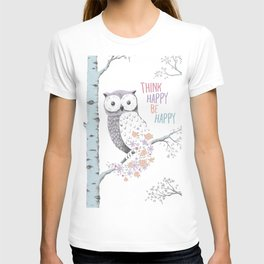 Think Happy Owl T-shirt