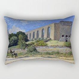 Alfred Sisley - Aqueduct at Marly (1874) Rectangular Pillow