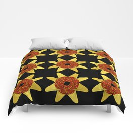 Golden Flower Of Missiles Comforters