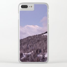Purple Moutain Mont Blanc Clear iPhone Case