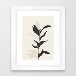 Abstract Minimal Plant Framed Art Print