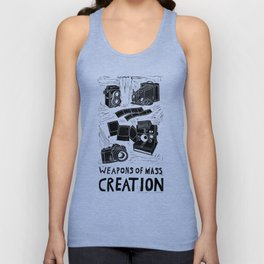 Weapons Of Mass Creation - Photography (blk on brown) Unisex Tank Top