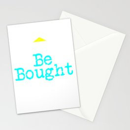 Can't Be Bought | Respect - Bold Neon Stationery Cards