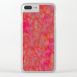 Bright Pink Cubism Abstract Clear iPhone Case