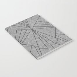 Art Deco in Black & Grey - Large Scale Notebook