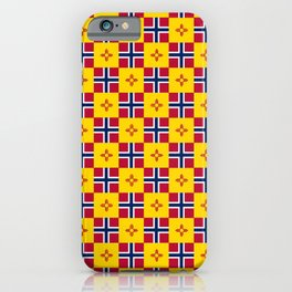 Mix of flag: norway and new mexico iPhone Case