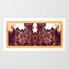 Skull Lord [Digital Fantasy Illustration] Tweaked Colour Mix Art Print