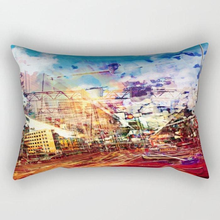 Fifty Fifty Rectangular Pillow