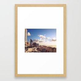 Tel Aviv Beach Framed Art Print