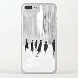People in the city Clear iPhone Case
