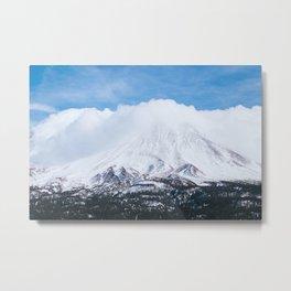 Mount Shasta Winter Photography Print Metal Print
