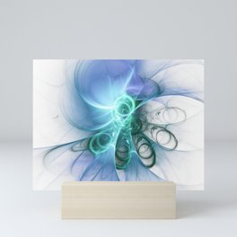 white Loops Mini Art Print