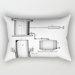 Apparatus for Forcing Beer from Casks Vintage Patent Hand Drawing Rectangular Pillow