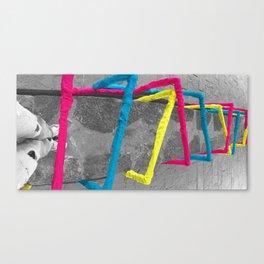 Noise Lines Canvas Print