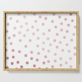 Simply Dots in Rose Gold Sunset Serving Tray