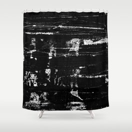 Distressed Grunge 102 in B&W Shower Curtain