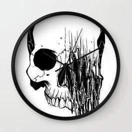 Skull #5 (Distortion) Wall Clock