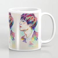 shinee Mugs featuring Colorful SHINee Taemin  by sophillustration