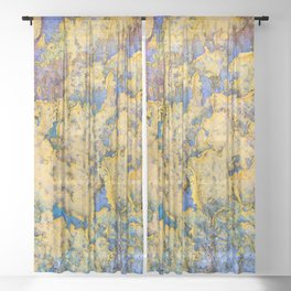 Flaking paint in Valparaiso Sheer Curtain