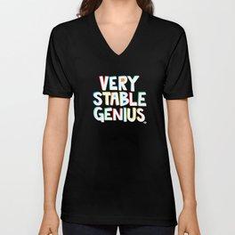 Very Stable Genius Unisex V-Neck