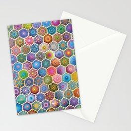 Rainbow honeycombs Stationery Cards