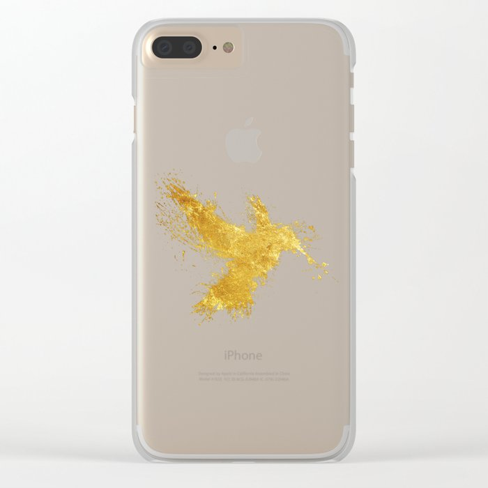 Hummingsplat - Gold Clear iPhone Case