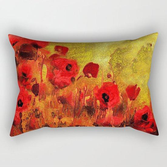 FLOWERS - Poppy reverie Rectangular Pillow