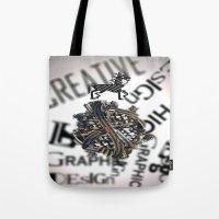 pixel Tote Bags featuring Pixel by VERTIgO