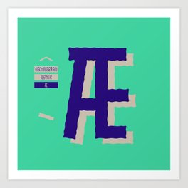 Foreign Languages. Character Æ Art Print