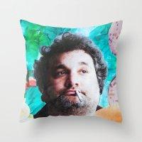jessica lange Throw Pillows featuring Artie Lange by John Turck