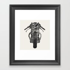 fast as fuck III Framed Art Print