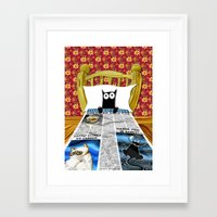 duvet cover Framed Art Prints featuring Duvet Cover by Andrew Hitchen