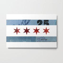 Ephemeral Chicago Flag Metal Print