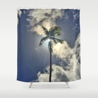 palm Shower Curtains featuring Palm by Karli Henneman