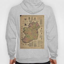 Vintage Map of Ireland (1893) Hoody