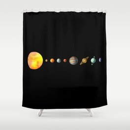 The Solar System Shower Curtain