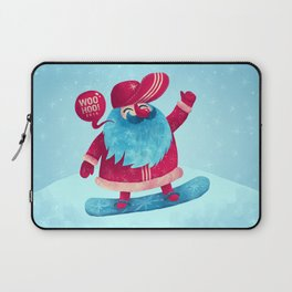 Snowboard Santa Laptop Sleeve