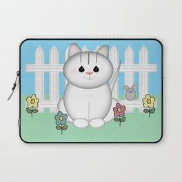 White Cat Laptop Sleeve